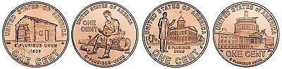 Complete Uncirculated Set of P Lincoln 2009 Bicentennial Cents 4 Coins