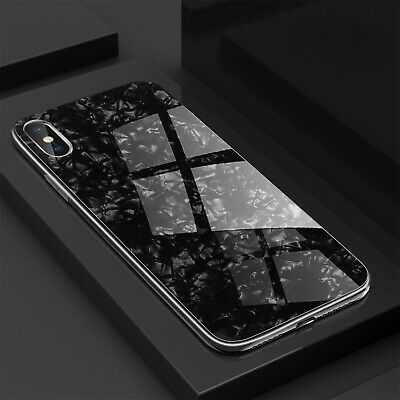 Luxury Marble Tempered Real Glass Case Cover For Apple iPhone XR