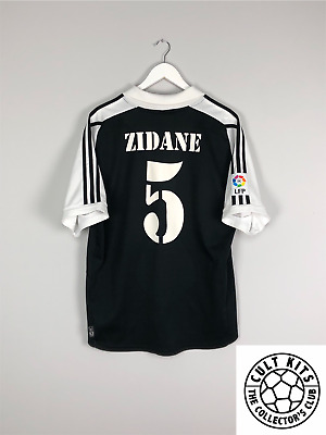 eab9c8904fe ZIDANE  5 REAL Madrid Centenary Away Football Shirt Jersey 2001 02 ...