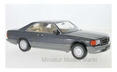 #180331 - KK-Scale Mercedes 560 SEC (C126) - metallic-anthrazit - 1985 - 1:18