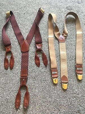 Vintage Burberry And Ralph Lauren Mens Suspenders/Braces