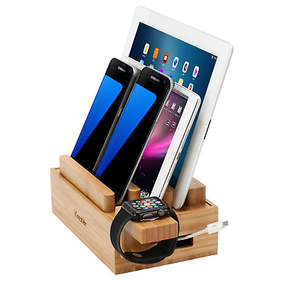 iCozzier® Mini Bamboo Watch Stand Universal Multi-device Charging Station and