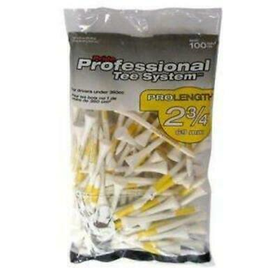 "Pride Sports PTS 2.75"" Golf Tees - White - 100 Pack"