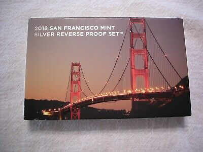 2018-S Silver Reverse Proof Set 50th Anniversary US Mint Set