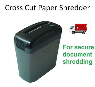 Paper Shredder Cross Cut Document Shredding A4 with Auto and Reverse
