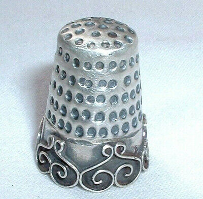 Attractive Vintage Mexican Hallmarked Sterling Silver Thimble - NO RESERVE