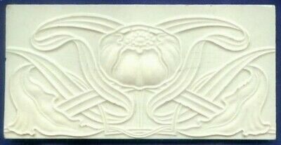Jugendstil Fliese Kachel Relief, Art Nouveau Tile, Tegel, NSTG, Mohn / Poppy