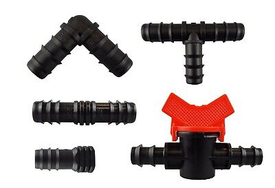 Porous pipe/leaky hose/soaker hose/drip line connectors / fittings/stakes/valves