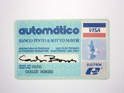 Pinto & Sotto Mayor Financial Bank Institution Pocket Calendar Credit Card Like