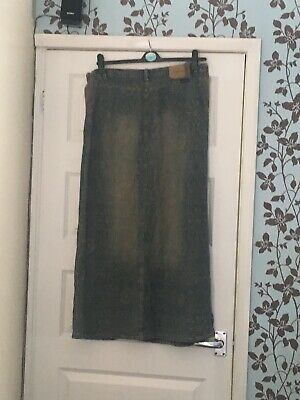 Denim/Khaki Maternity Skirt Size M/12