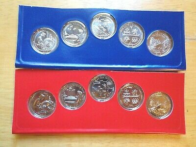 2019 America The Beautiful P /& D Uncirculated Set Sealed Mint Cello 10 Coin Lot