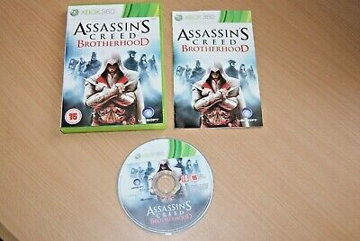XBOX 360 game ASSASSINS CREED brotherhood boxed & manual TOP CONDITION