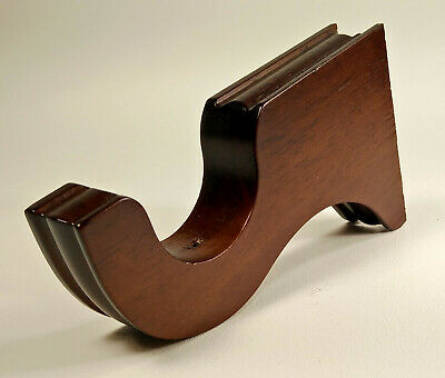 Curtain Rod Corbel Bracket Holder Hanger Wood Single Rod Brown