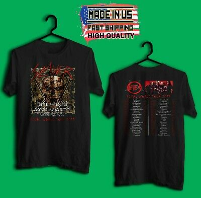 New SLAYER Final World Tour 2019 Black T Shirt 2 Side Size S-5XL Made In Us