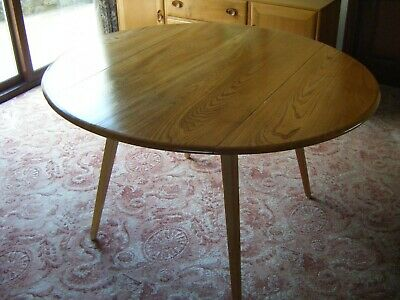 Ercol drop Leaf dining Table.  Elm top.