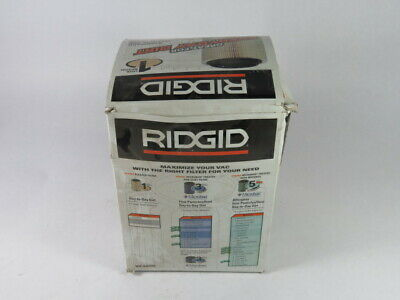 Ridgid VF4000 Quik-Lock Pleated Paper Filter For Everyday Dirt & Dust  NEW