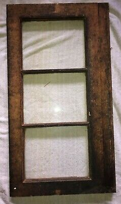 Antique Primitive Wood-Vintage Reclaimed 3 Pane Window tounge & Groove HEAVY