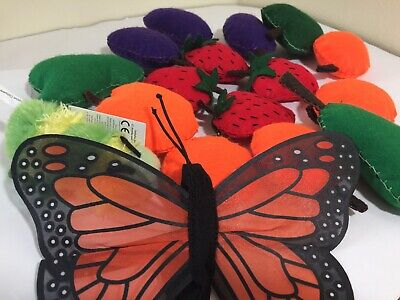 The Very Hungry Caterpillar / Mini Beasts Felt Story Sack - Includes Puppets