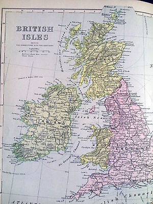 British Isles + parts of Northern Europe,1890's map