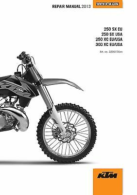 KTM Service Workshop Shop Repair Manual Book 2013 300 XC