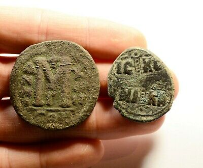 D: 32-38mm!!! Ancient Byzantine Bronze Coin - LOT OF 2