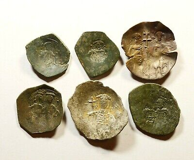 Lot Of 6 Ancient Byzantine Cup Coins - Nice Detail