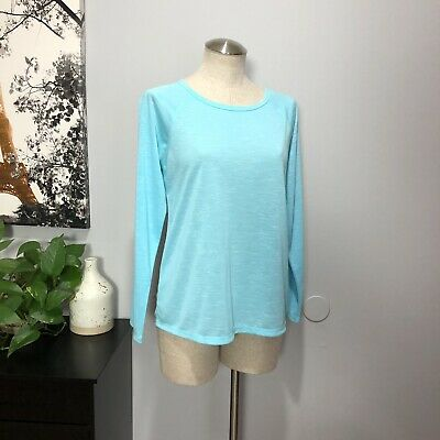 NWT Womens Xersion Long Sleeve Island Turqoise Quick Dri Top Sz XL