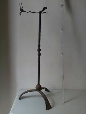 VALET CHEMINEE FER FORGE ANCIEN OLD IRON CHEMNEE TOOL HOLDER sans outils