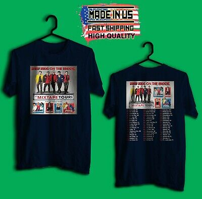 New Kids on the Block NKOTB Mixtape tour concert 2019 Navy T Shirt Made In Us