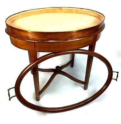 Edwardian Inlaid Mahogany Glass Top Coffee / Bijouterie Table Antique Furniture
