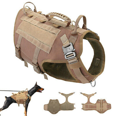 Tactical Military Dog Training Harness Molle Army Canine Police K9 Service Vest