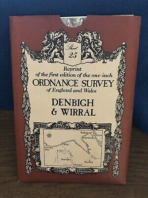 Ordnance Survey Map 25. Denbigh & Wirral. David & Charles Sheet Map. B&W.
