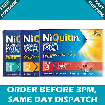 Niquitin Patches 21/14/7mg step 1/2/3 (7day patches)