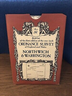 Ordnance Survey Map 26. Northwich & Warrington. David & Charles Sheet Map. B&W.