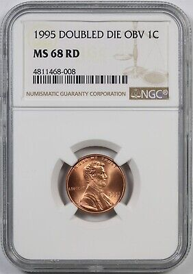 1995 DDO Doubled Die Obverse 1C NGC MS 68 RD Lincoln Penny