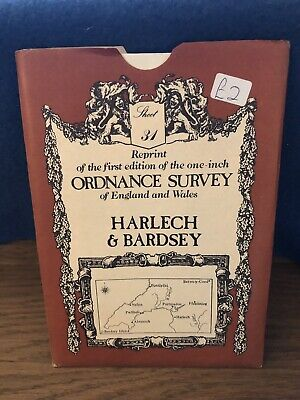 Ordnance Survey Map 31. Harlech & Bardsey. David & Charles Sheet Map. B&W.
