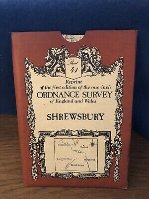Ordnance Survey Map 41. Shrewsbury. David & Charles Sheet Map. B&W.