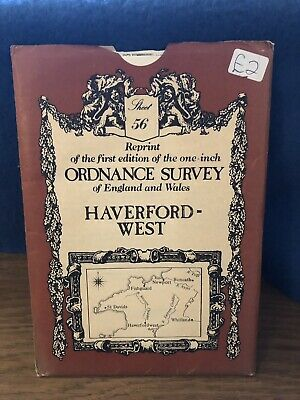 Ordnance Survey Map 56. Haverfordwest. David & Charles Sheet Map. B&W.