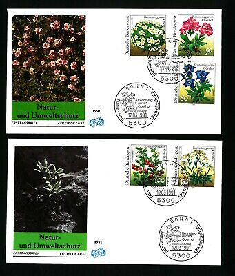 Germany,     1991 FLOWERS   2 FDC COVER