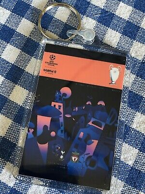 2019 UEFA Champions League Final Liverpool v Tottenham Programme Cover Keyring