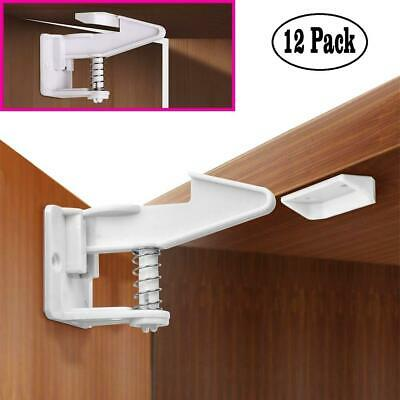 Baby Safety Child Locks Proof Cabinet Cupboard Drawers No Tools or Drilling...
