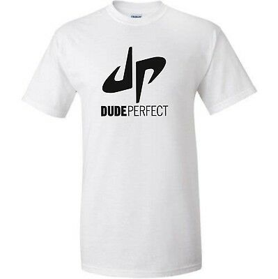 DP Dude Perfect White T-shirt For Kids Gaming Gamer Youtuber Fan Size XL 12-13