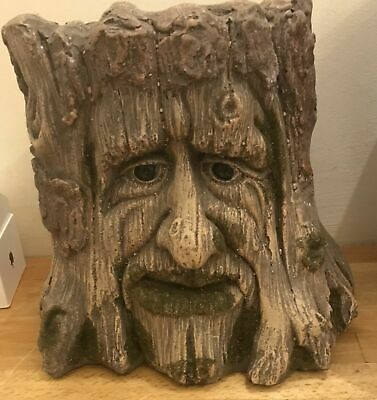 latex mould for making THIS LOVELY TREE FACE GARDEN POT/STAND .