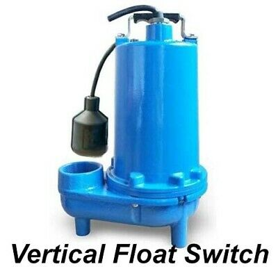 "Submersible SEWAGE TRASH Pump - 2"" Out - 104 GPM - 115V - Self Priming - V Float"