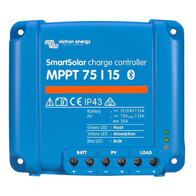 Victron SmartSolar MPPT 75/15 15A solar charge controller for solar panels up to