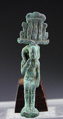 *SC* EGYPTIAN BRONZE SEATED FIGURE OF HARPOCRATES, 6th.-4th. cent BC!