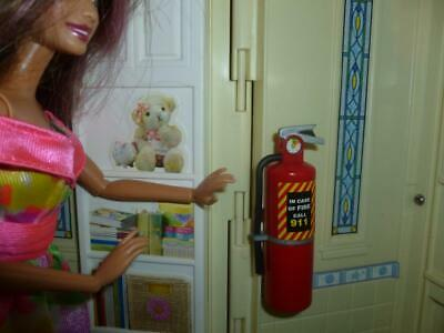 Barbie Doll Size Dollhouse Kitchen Accessories- Miniature  Fire Extinguisher