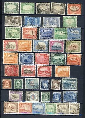 ADEN-MINT & USED COLLN-GEORGE 6TH VALS TO 5 Rs ETC-GOOD CAT VALUE