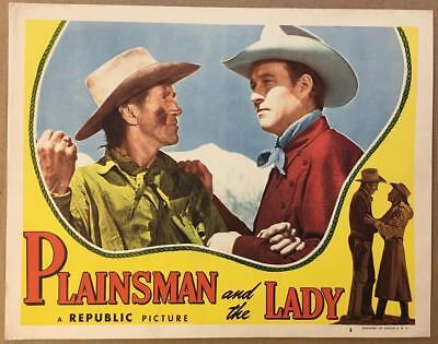 WESTERN MOVIE POSTER plainsman and the lady WILLIAM ELLIOTT indians 24X36