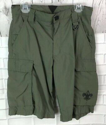 Lot Of 2 Boy Scouts Of America BSA Olive Cargo NYLON And Switchback Shorts L